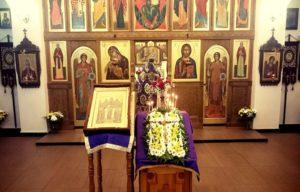 Праздничная служба в храме Всех Святых