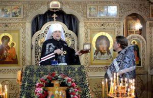Во Введенский храм принесены мощи святителя Амвросия Медиоланского