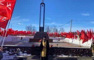 У мемориала «Титовский рубеж» освящены знамёна