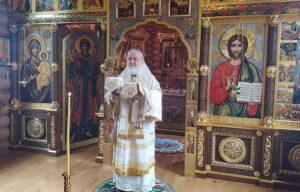В Неделю 7-ю по Пятидесятнице Святейший Патриарх Кирилл совершил Литургию в Александро-Невском скиту