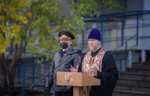 Руководитель епархиального Отдела по взаимодействию с УМВД России посетил торжественное построение личного состава ГИБДД