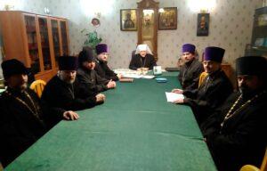 В Епархиальном управлении обсудили планы работы епархии