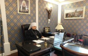 Митрополит Митрофан принял участие в заседании Высшего Церковного Совета в дистанционном формате