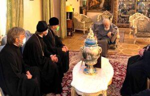 Католикос-Патриарх всея Грузии Илия II встретился с управляющим делами Украинской Православной Церкви