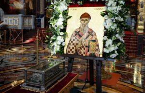 В Церкви назвали фейком информацию о принесении в Россию мощей Спиридона Тримифунтского