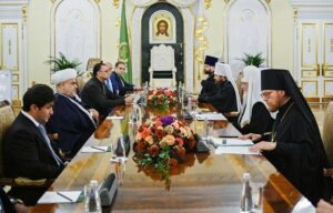 Святейший Патриарх Кирилл встретился с председателем Управления мусульман Кавказа шейх-уль-исламом Аллахшукюром Пашазаде